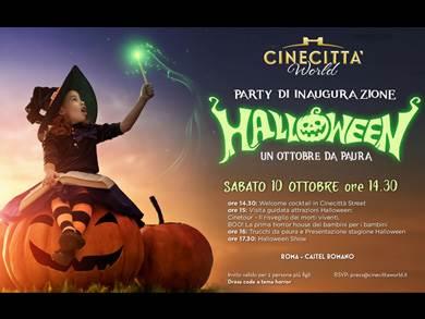 Cinecittà World - party di inaugurazione di HALLOWEEN, Sabato 10 Ottobre ore 14:30