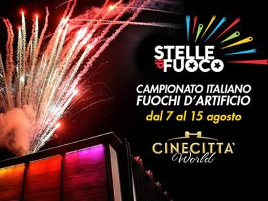 Stelle di fuoco a Cinecittà World: dal 7 al 15 Agosto torna per la quarta edizione il campionato italiano di fuochi d'artificio